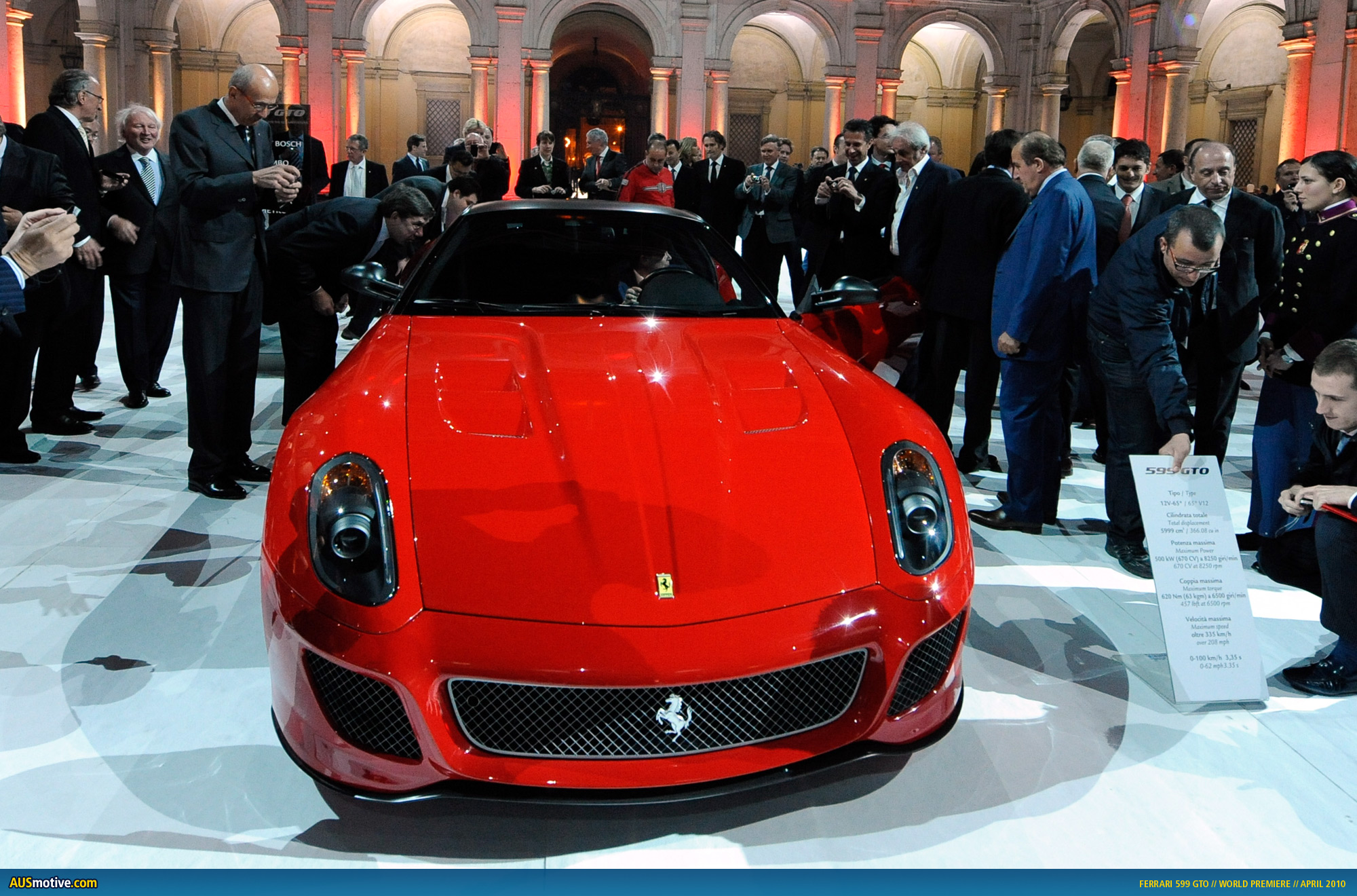 The event was held at the Military Academy's Ducal Palace and Ferrari's top