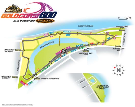Gold Coast 600 - circuit map