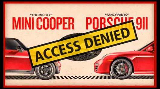 MINI v Porsche