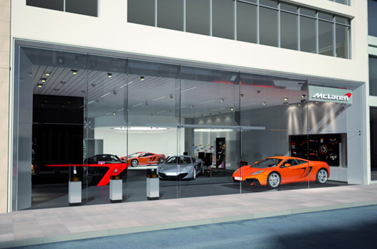 McLaren showroom rendering