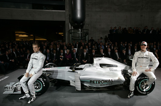 Mercedes GP Petronas 2010 launch