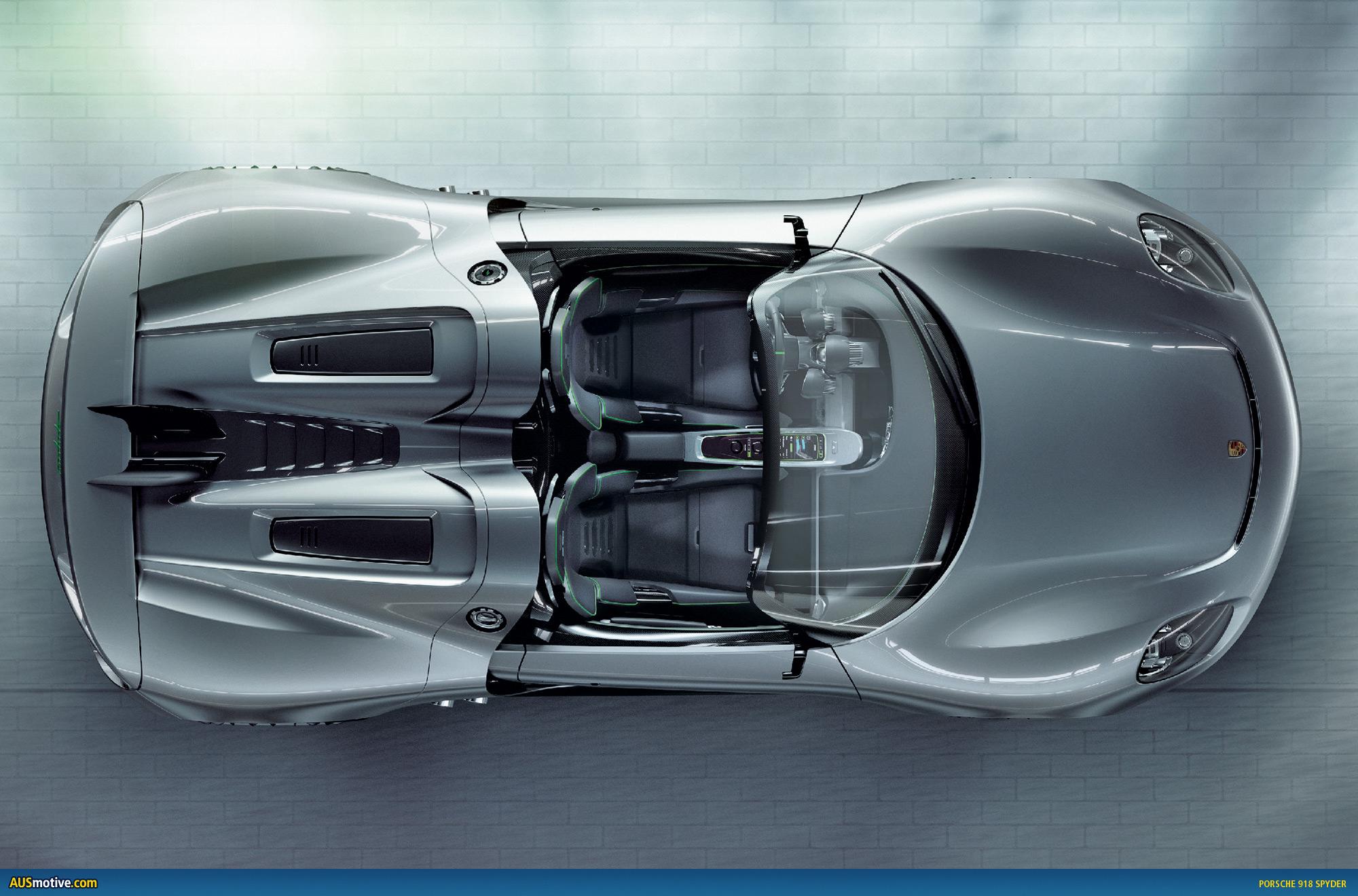Geneva Porsche 918 Spyder With Hybrid Drive Engine Diagram
