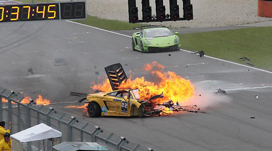 Super Trofeo crash @ Brno