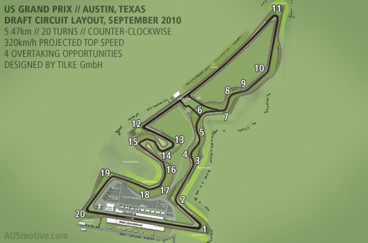 US GP draft track layout
