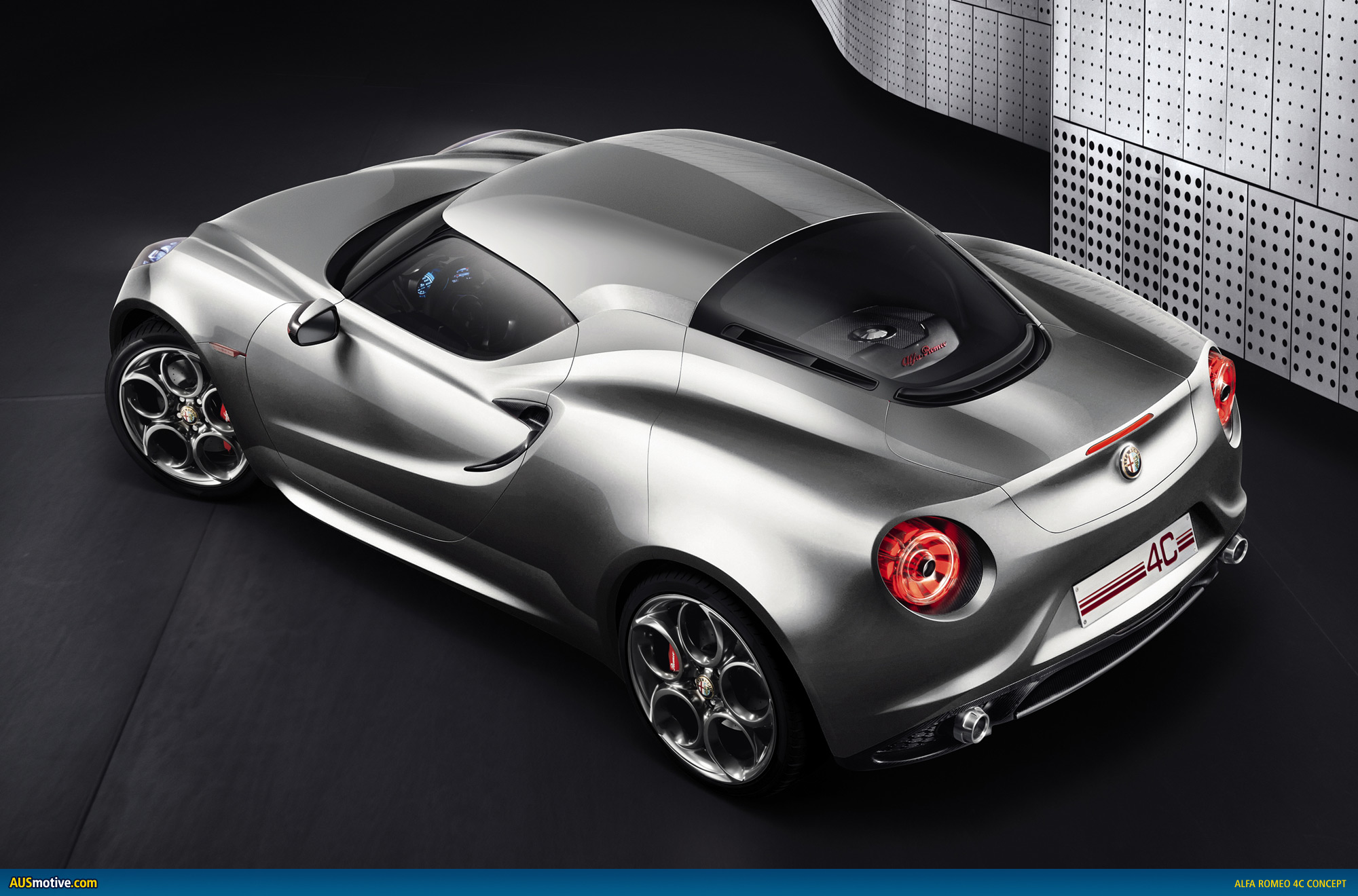 alfa romeo 4c concept given a makeover. Black Bedroom Furniture Sets. Home Design Ideas