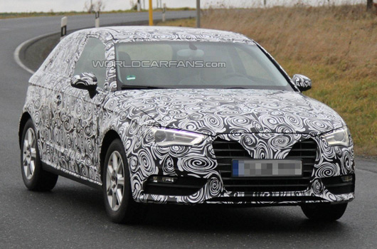 AUSmotive.com » 2012 Audi A3 prototype reveals a little bit more