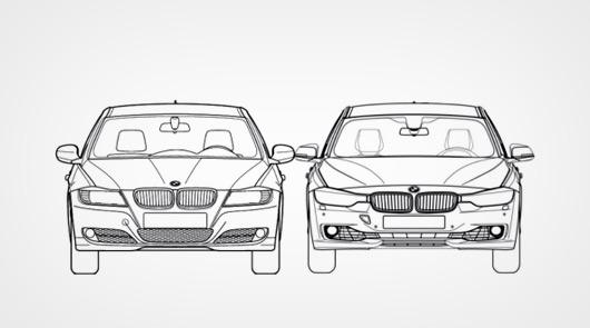 BMW 3 Series F30 v E90