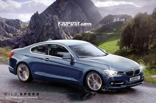 BMW F32 4 Series coupé rendering