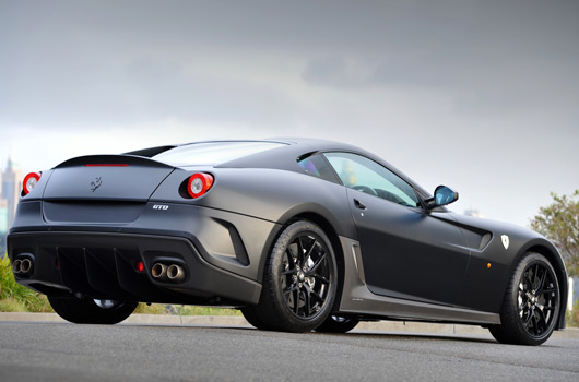 Matt black Ferrari 599 GTO in