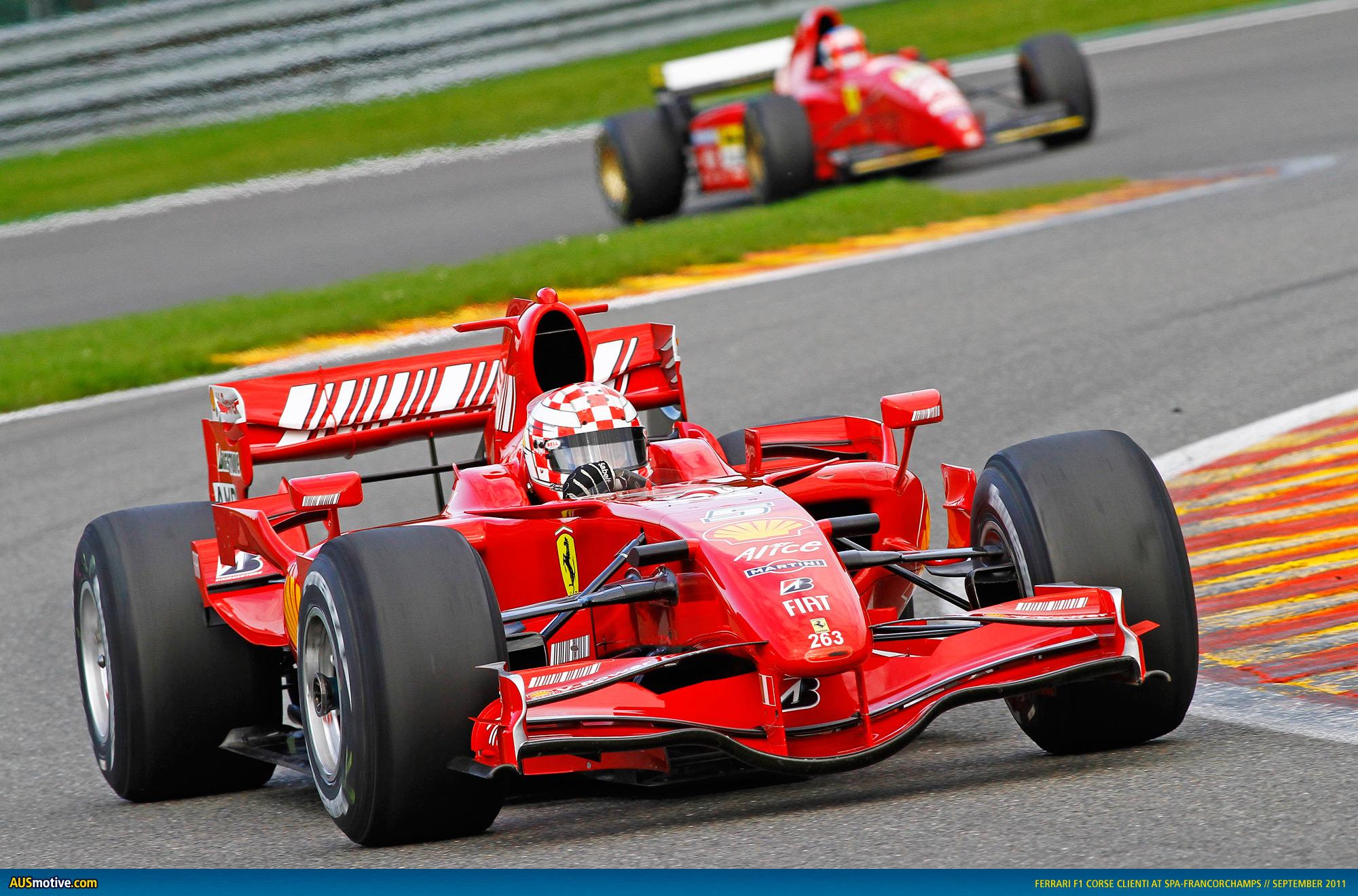 F1: AUSmotive.com » Ferrari 599XX And Historic F1 Cars At Spa