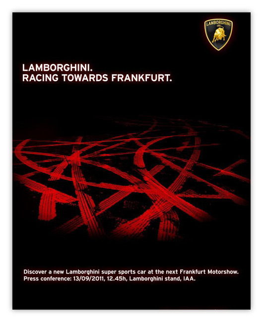 Lamborghini racing to Frankfurt