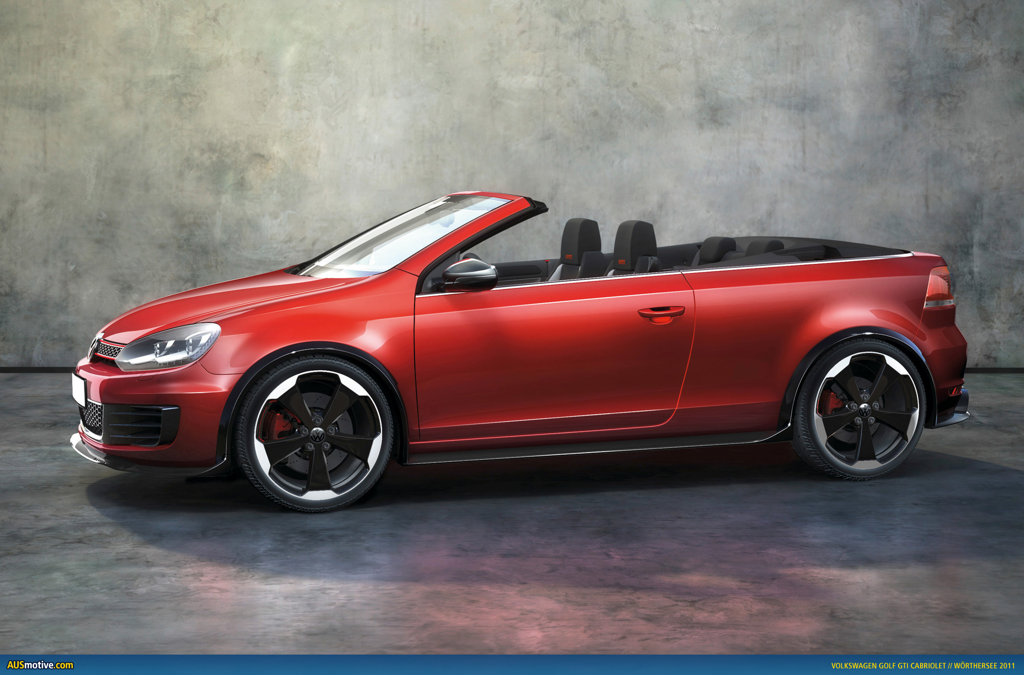 volkswagen golf gti cabrio en route to geneva. Black Bedroom Furniture Sets. Home Design Ideas