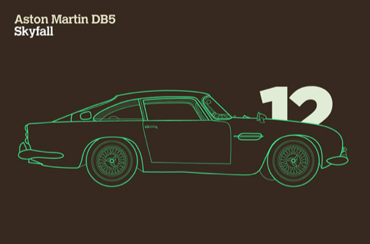 James Bond's Aston Martin DB5 as featured in Skyfall