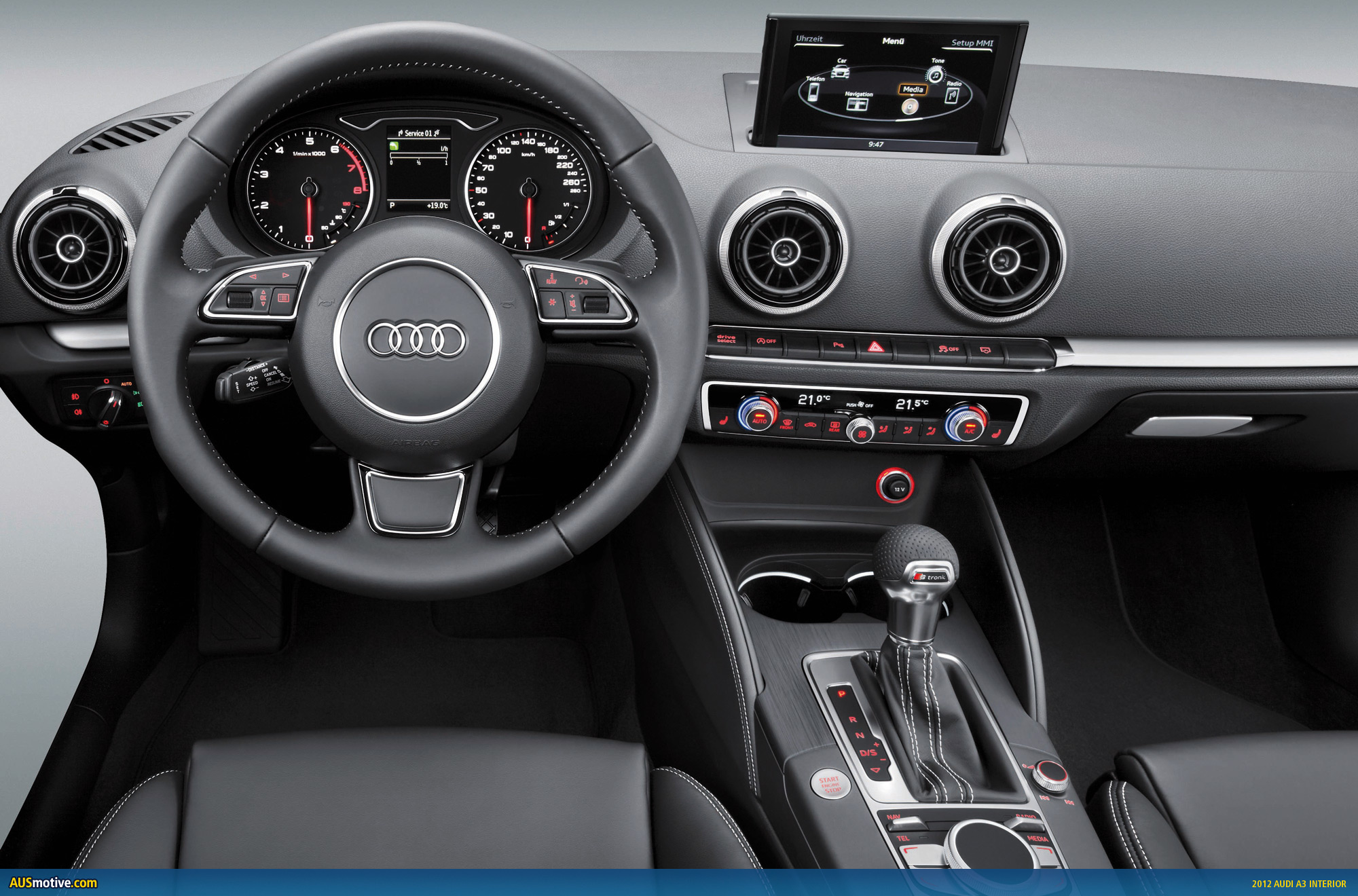 2012 audi a3 interior and more revealed. Black Bedroom Furniture Sets. Home Design Ideas