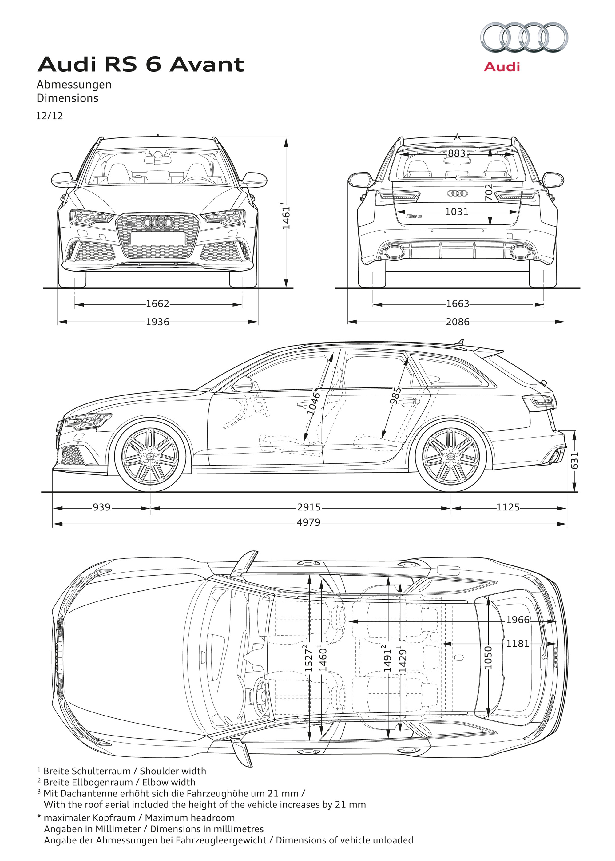 Audi rs6 2017 weight 12