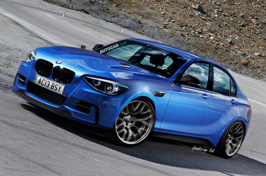 BMW 1 Series M sedan rendering