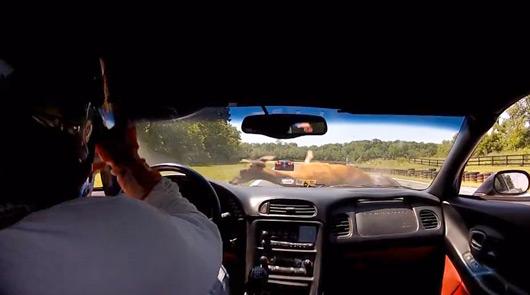 Chevrolet Corvette Z06 hits deer