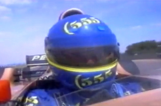 Colin McRae drives Jordan 196 F1 car
