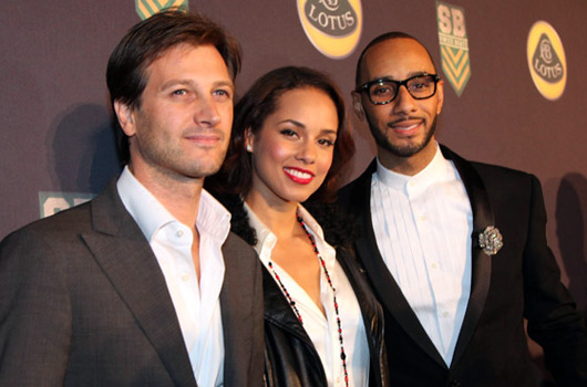Dany Bahar, Group Lotus CEO, with Alicia Keys and Swizz Beats