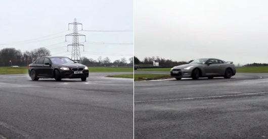 F10 BMW M5 v R35 Nissan GT-R