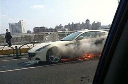 Ferrari FF fire