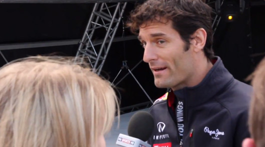Mark Webber at the 2012 Goodwood Festival of Speed