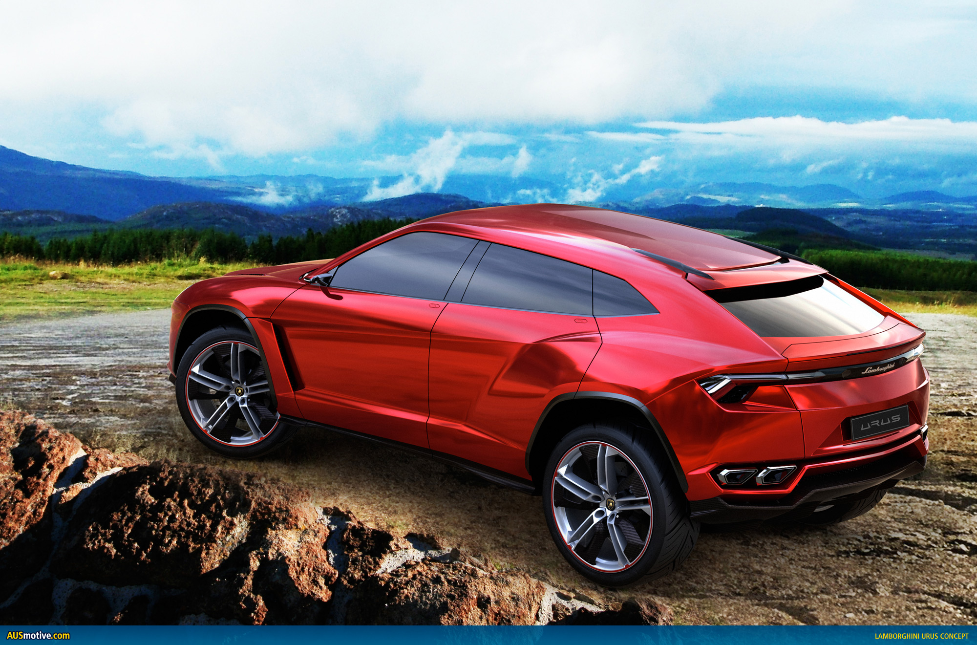 lamborghini urus suv concept revealed. Black Bedroom Furniture Sets. Home Design Ideas