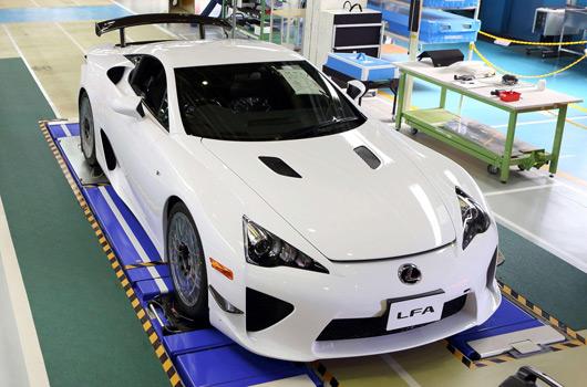Final Lexus LFA rolls off production line
