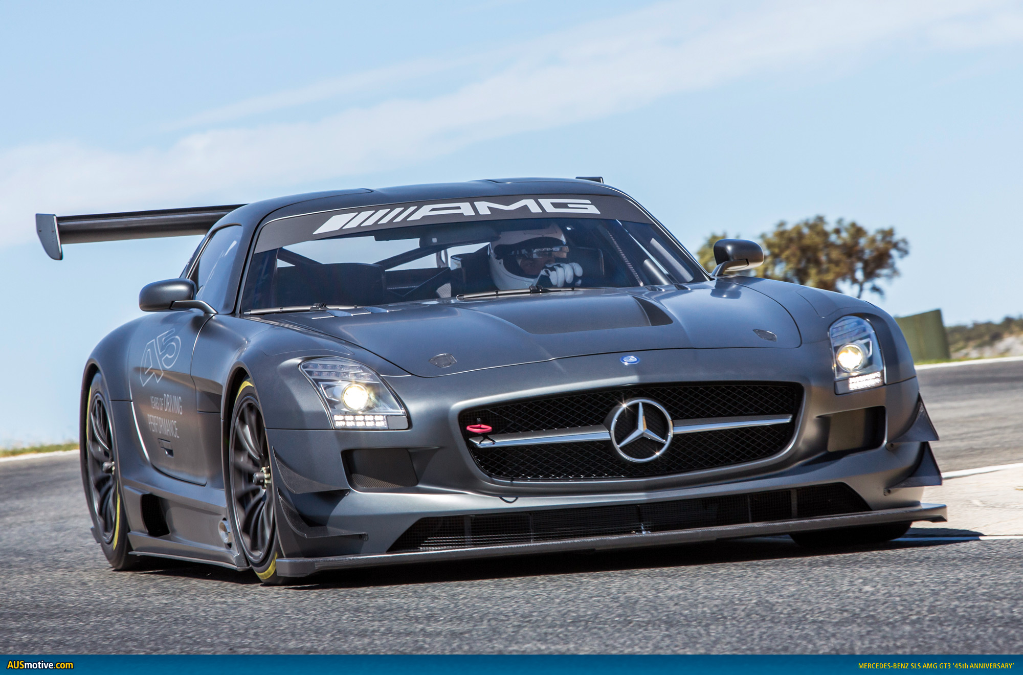 mercedes sls amg gt3 45th anniversary. Black Bedroom Furniture Sets. Home Design Ideas