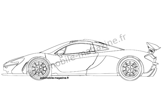 McLaren P1 patent drawing