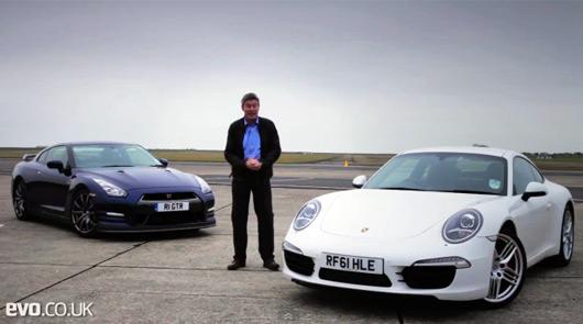 Tiff Needell, Nissan GT-R v Porsche 911 Carrera S