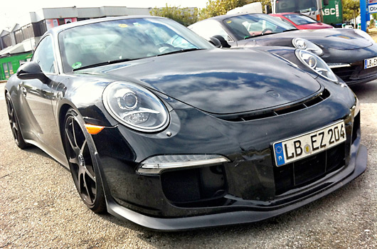 Porsche 911 GT3 prototype spied in Spain