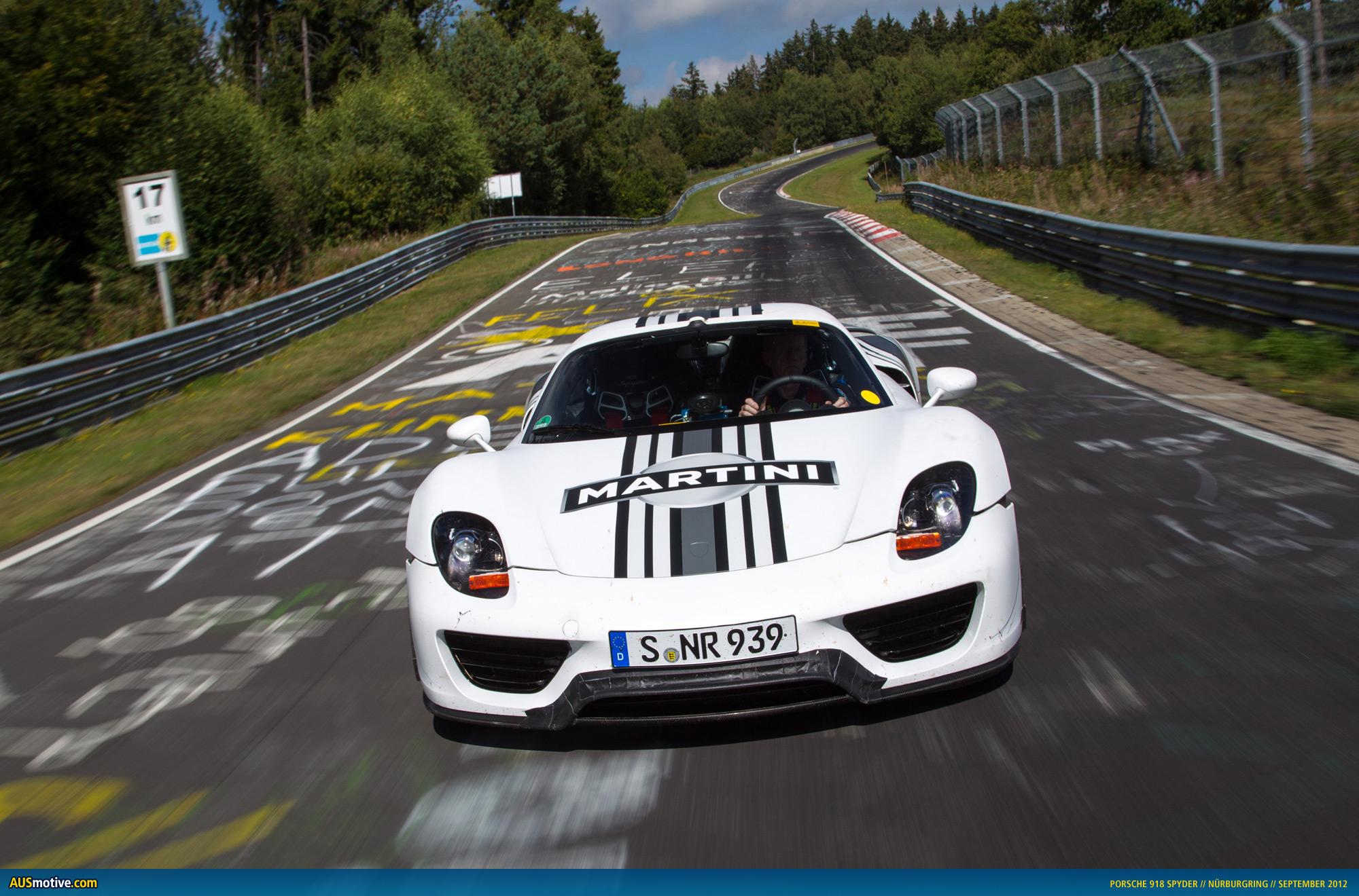 2012 porsche 918 spyder prototype test drives on nurburgring autos post. Black Bedroom Furniture Sets. Home Design Ideas