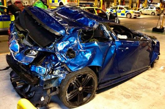 Greater Manchester Police car crash