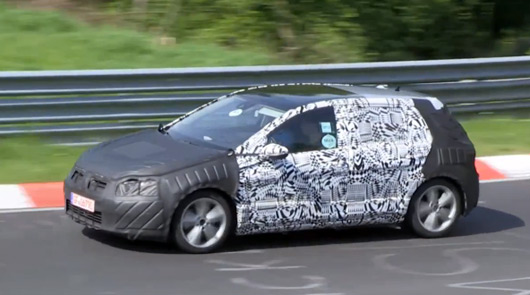 VW Golf VII GTI spied at the Nurburgring