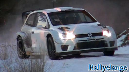 Jari-Matti Latvala testing VW Polo R WRC