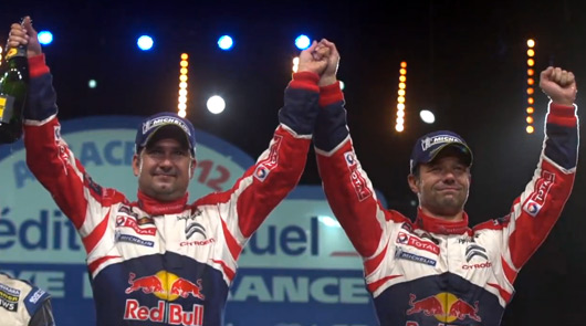 Sebastien Loeb and Daniel Elena, 2012 Rallye de France