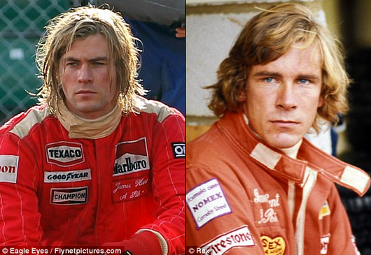 Chris Hemsworth as James Hunt