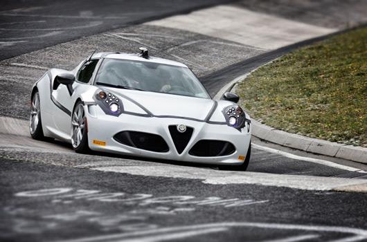 Alfa Romeo 4C at the Nurburgring