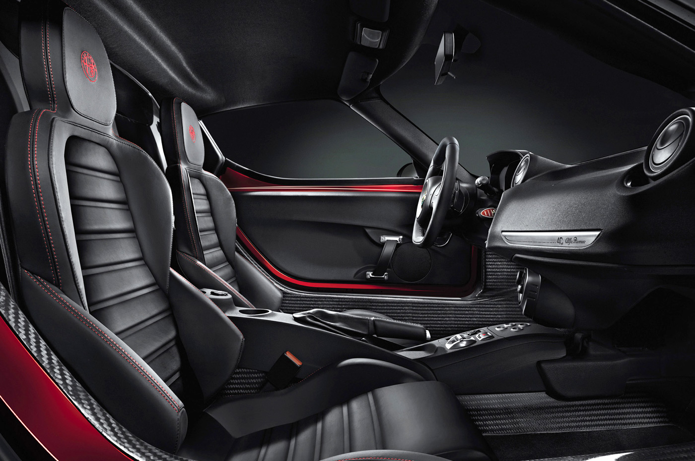 your first look inside the alfa romeo 4c. Black Bedroom Furniture Sets. Home Design Ideas