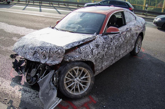 BMW 2 Series prototype crash in Germany