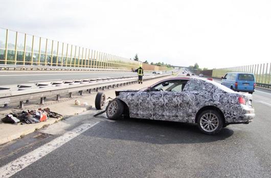 BMW 2 Series prototype crash in Germany