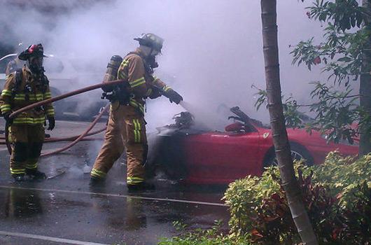 Ferrari F430 fire, Boca Raton, FL