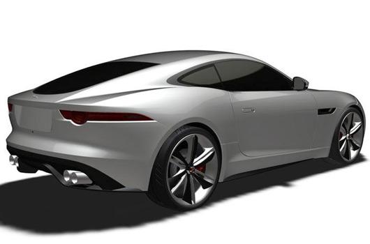 Jaguar F-Type coupe patent drawing