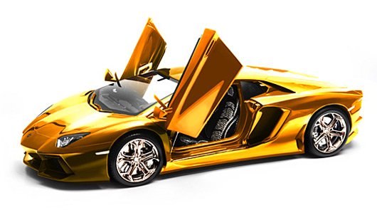 Ridiculous Lamborghini Aventador 1:8 model carved from solid gold