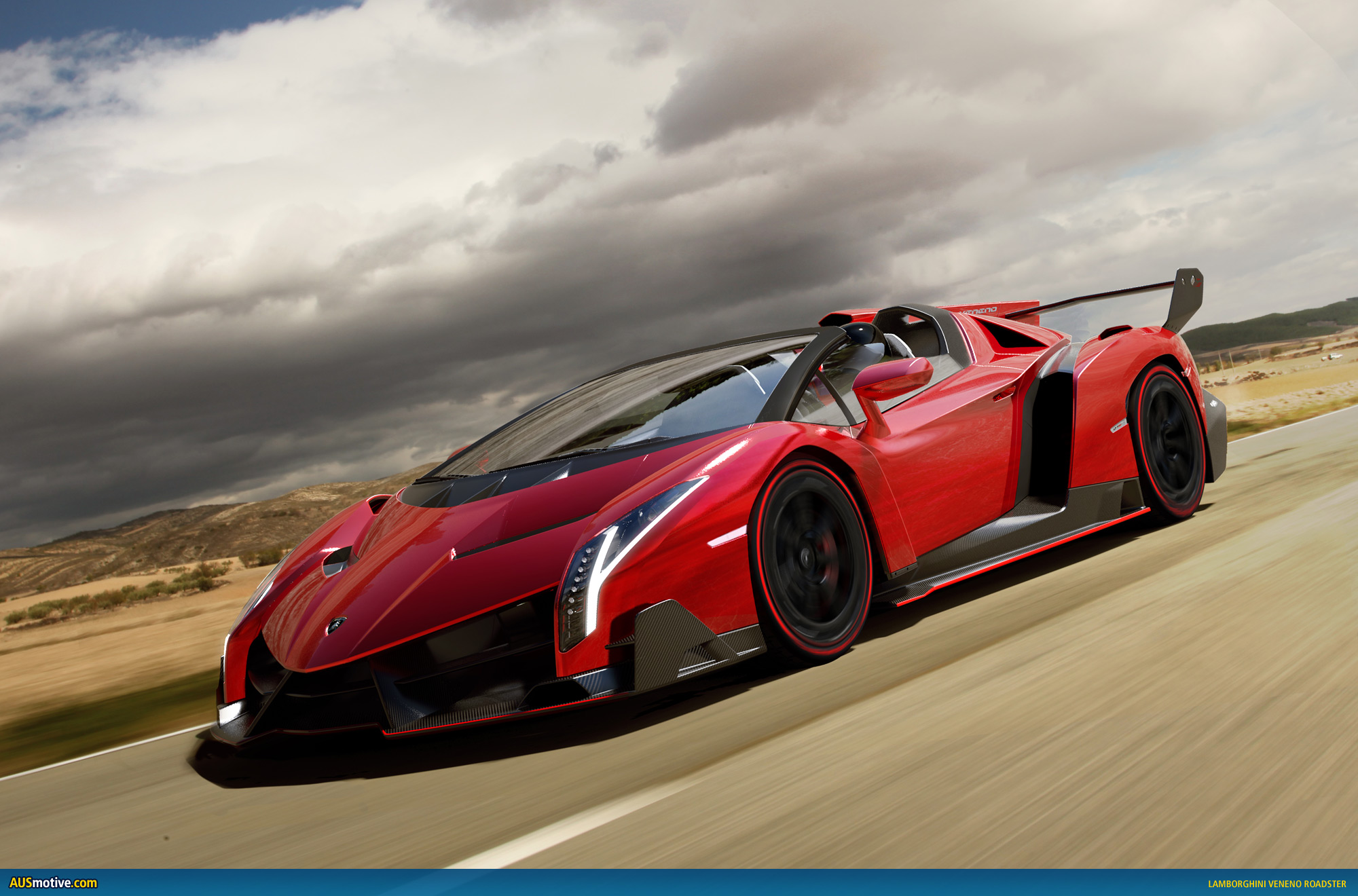 lamborghini veneno roadster revealed