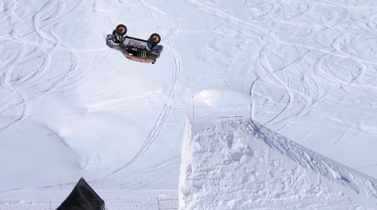 Guerlain Chicherit completes backflip in MINI All4 rally car