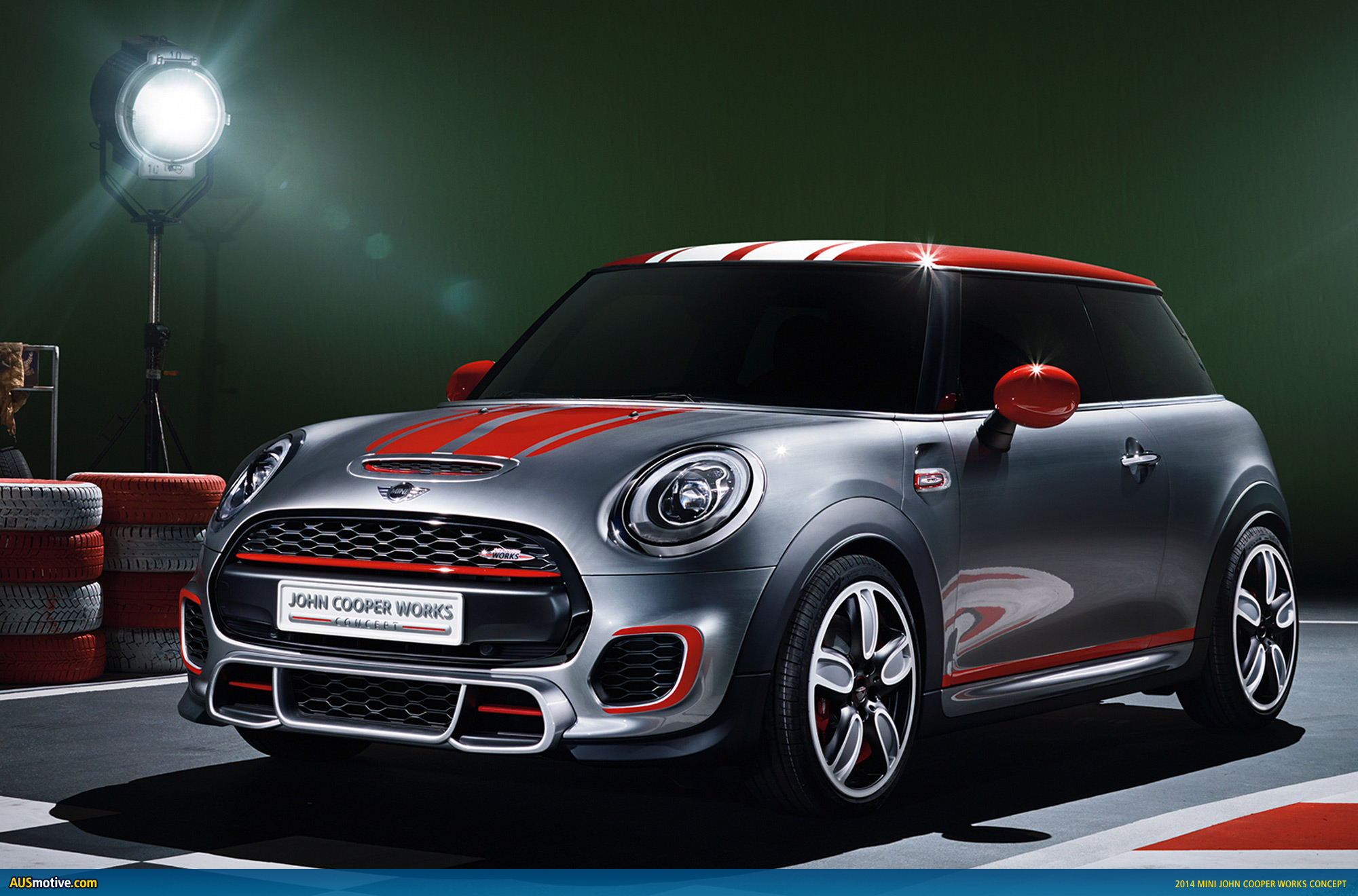 mini john cooper works concept previewed. Black Bedroom Furniture Sets. Home Design Ideas
