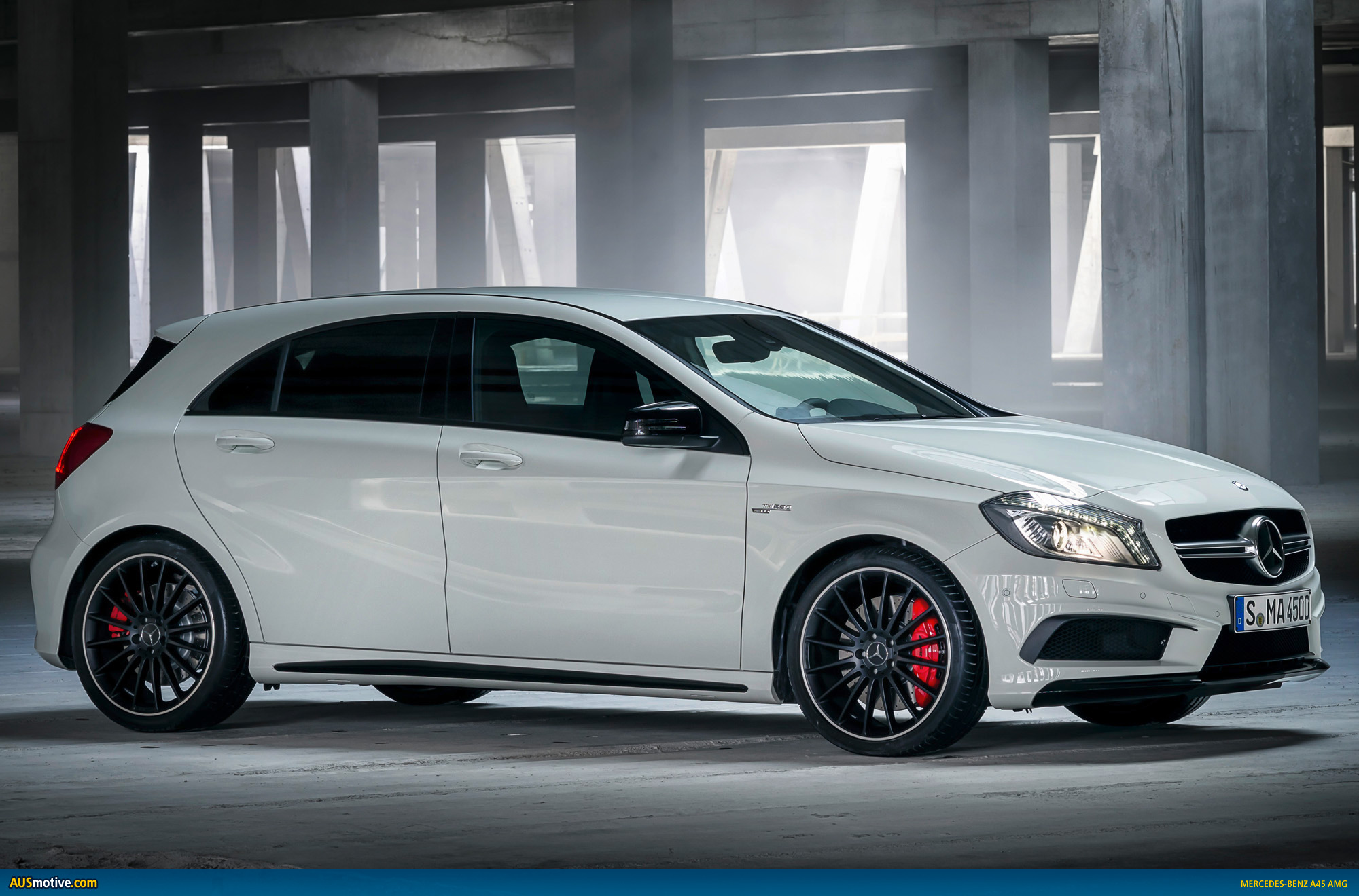 mercedes benz a45 amg revealed. Black Bedroom Furniture Sets. Home Design Ideas