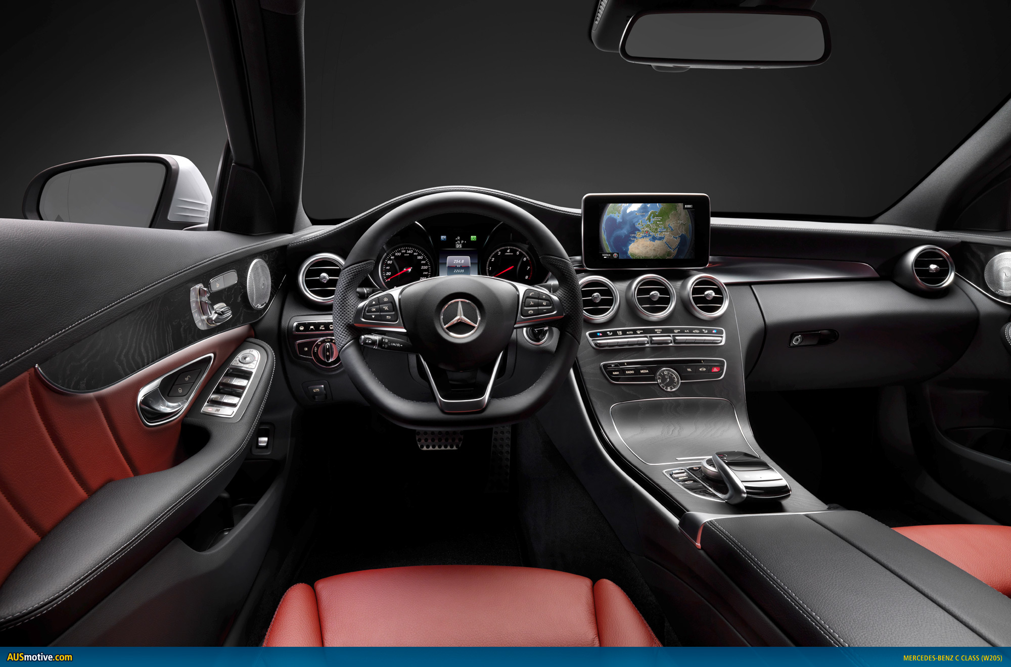 2014 mercedes benz c class images leaked for Inside mercedes benz